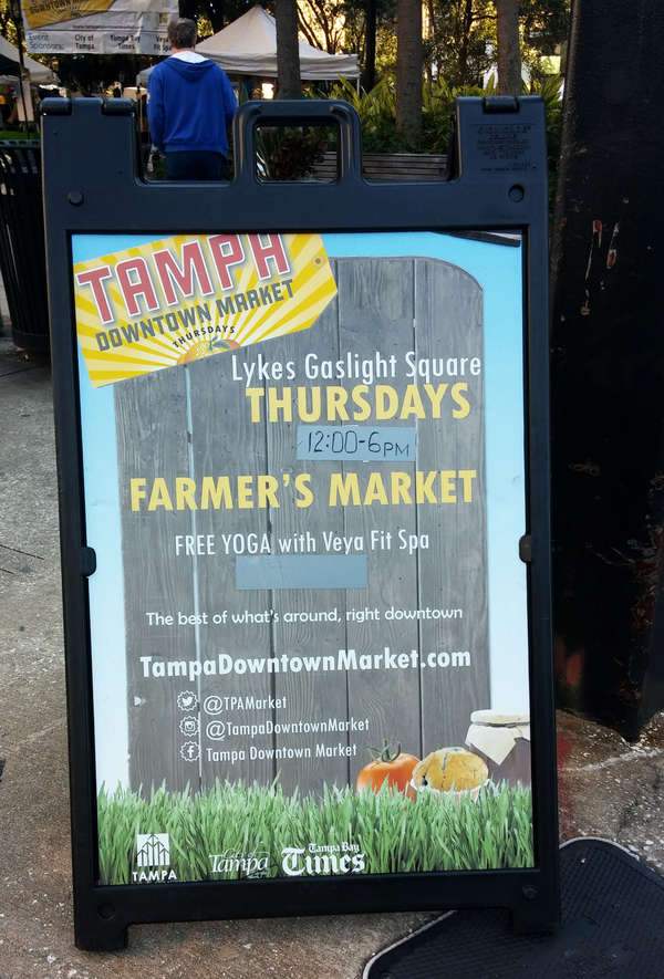 Tampa Downtown Market sign